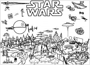 Coloring page star wars free to color for children