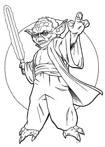 Coloring page star wars to color for children