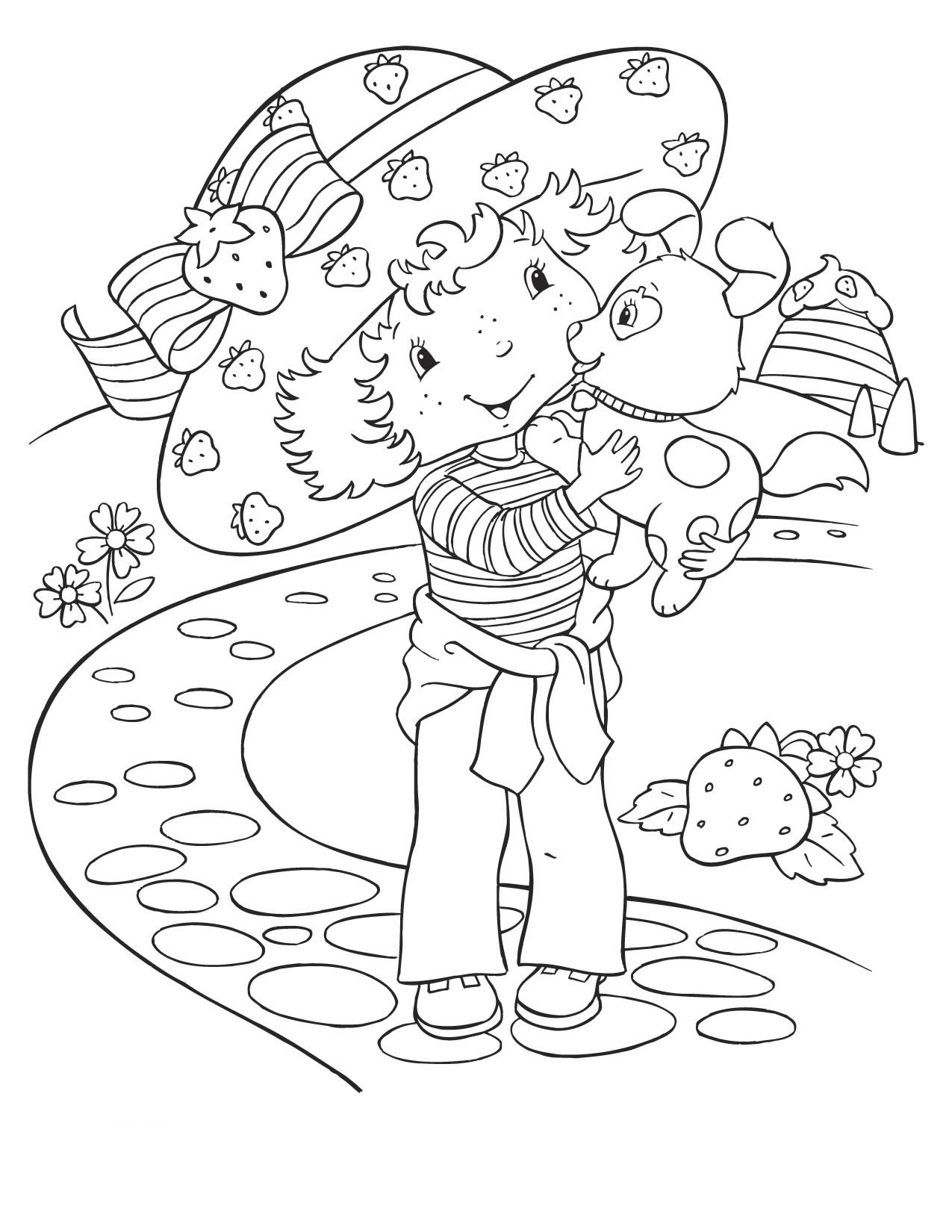 Simple Strawberry Shortcake coloring page
