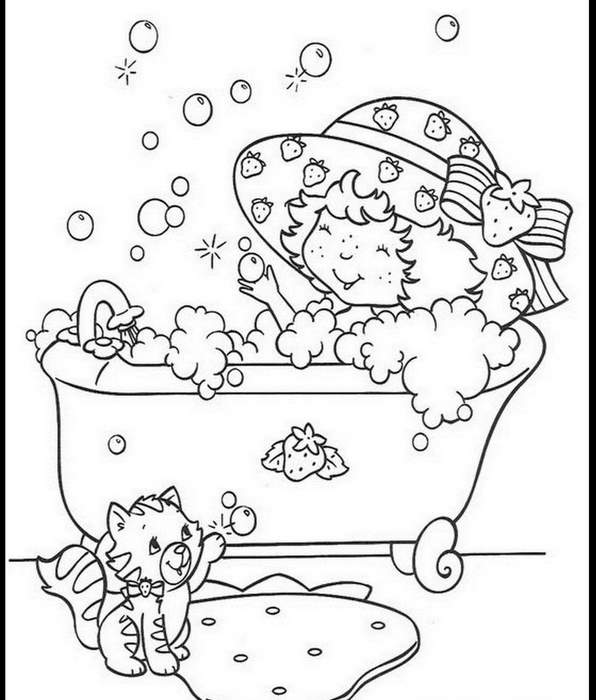 Printable Strawberry Shortcake coloring page to print and color for free