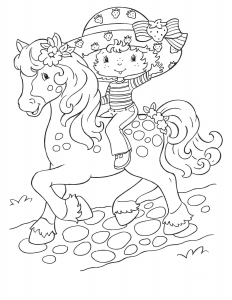 Coloring page strawberry shortcake to color for kids