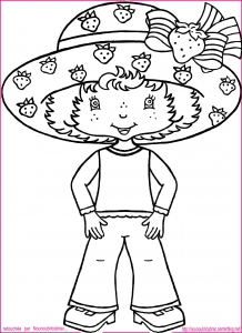 Coloring page strawberry shortcake to download for free