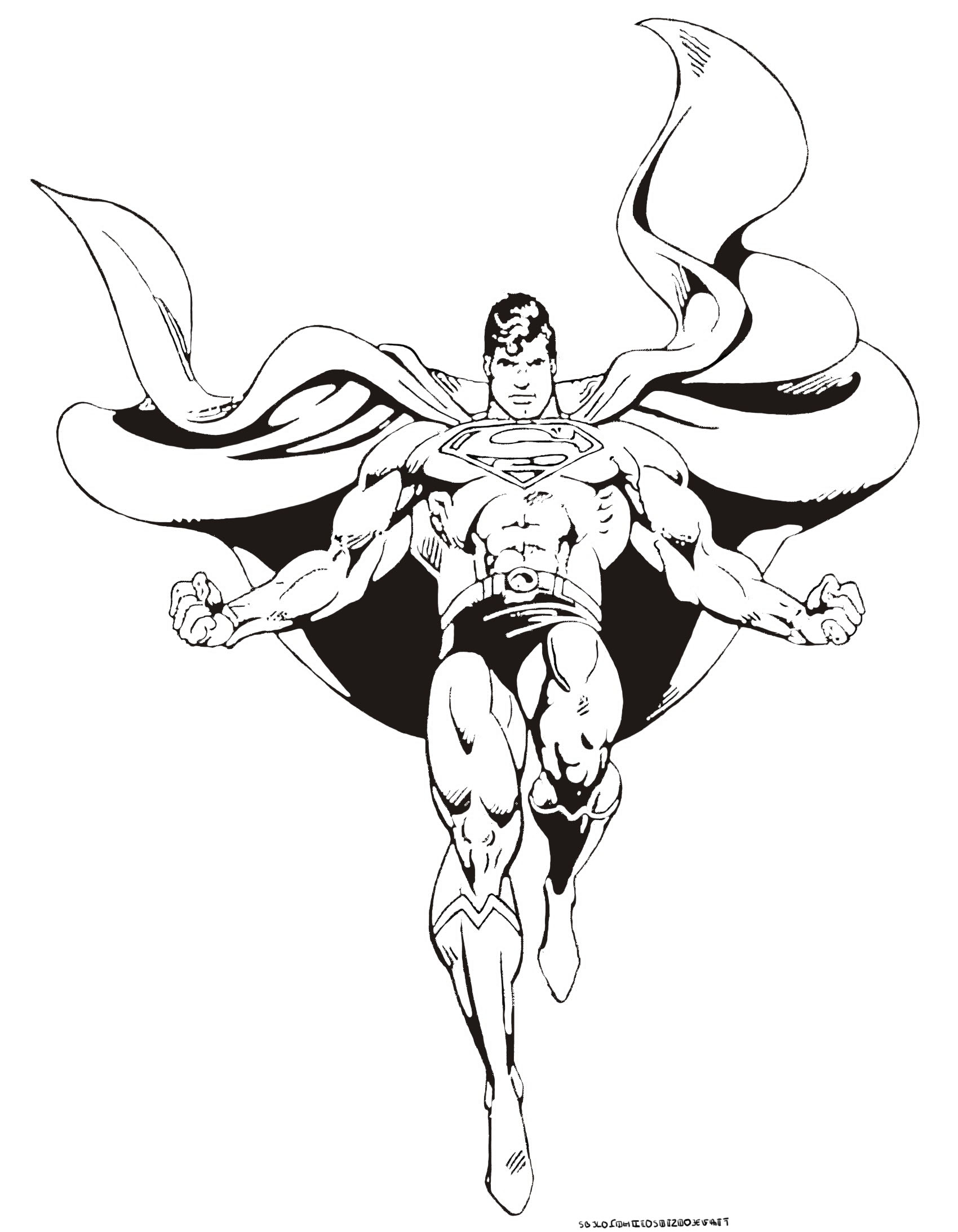 Superman to download for free - Superman Kids Coloring Pages