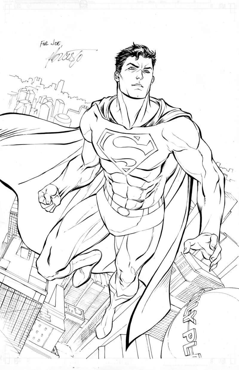 Superman free to color for children Superman Kids