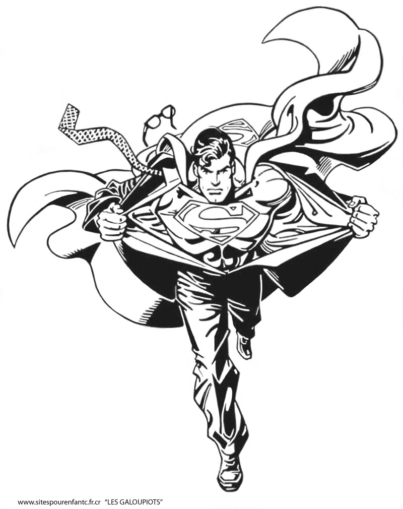 Funny Superman coloring page for children
