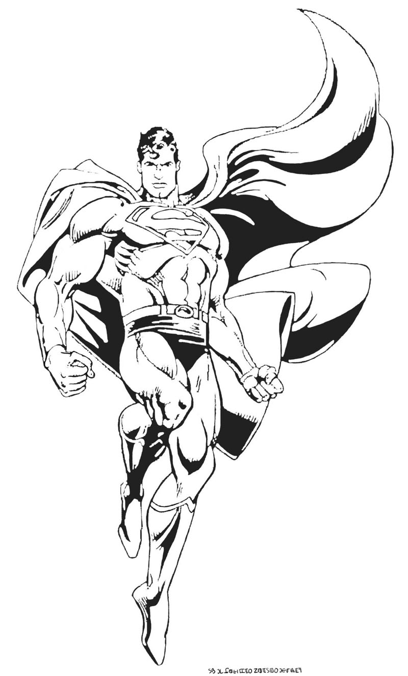 Superman Free To Color For Kids Superman Kids Coloring Pages