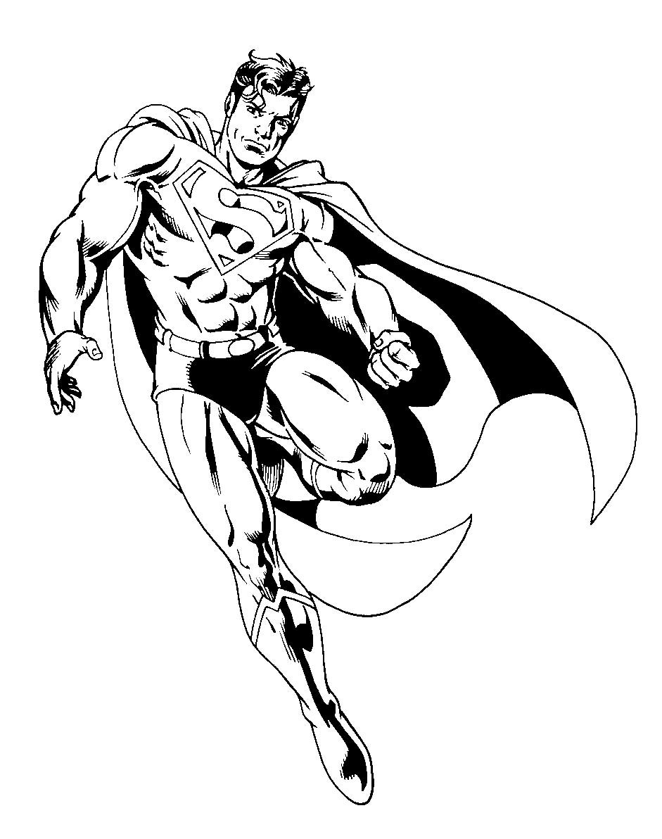 Superman To Color For Kids Superman Kids Coloring Pages