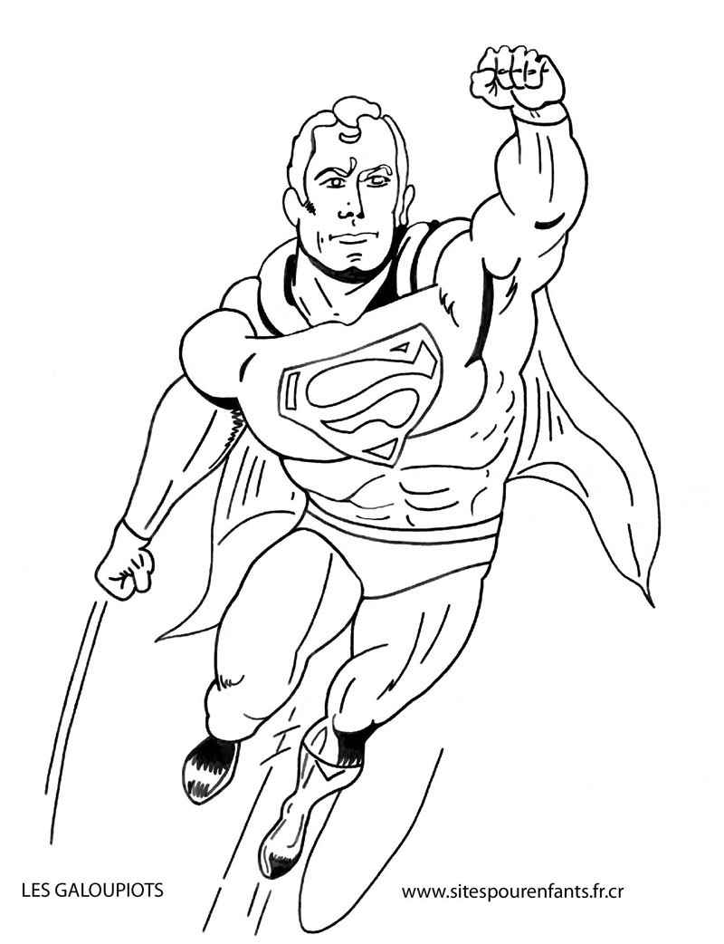 - Superman Free To Color For Kids - Superman Kids Coloring Pages