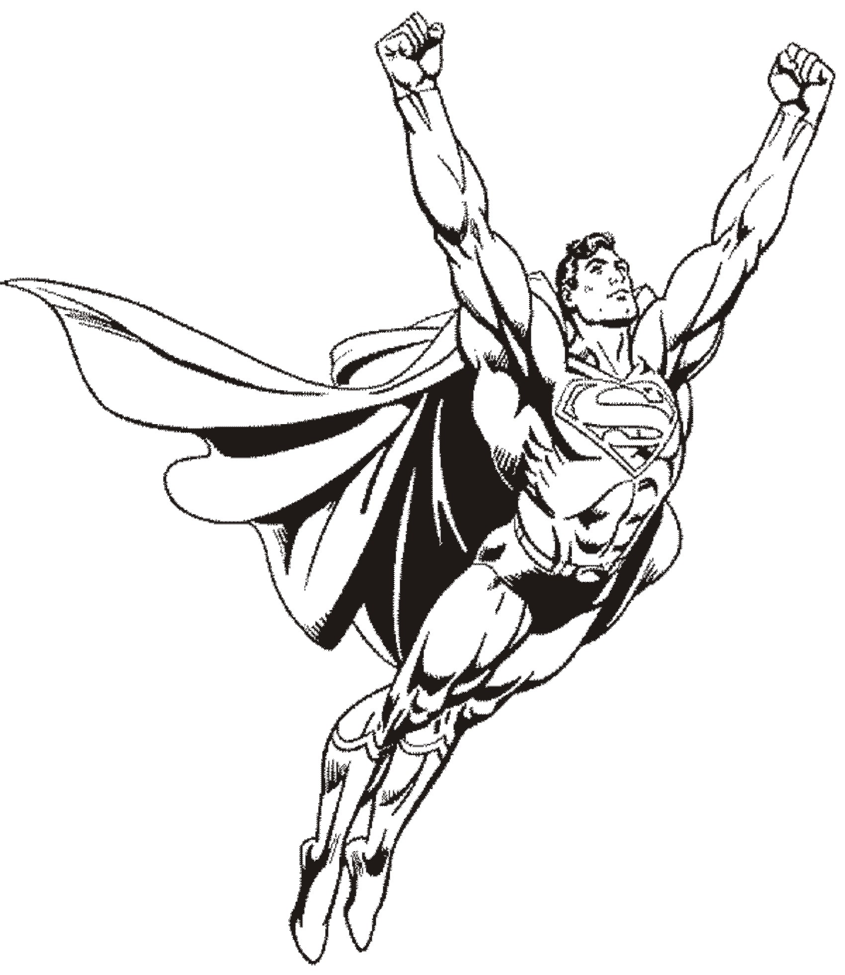 Superman to color for kids - Superman Kids Coloring Pages