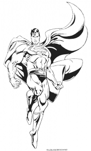 Coloring page superman free to color for kids