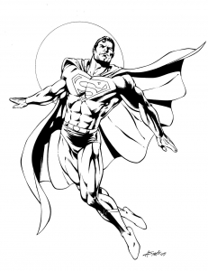 Coloring page superman to download for free