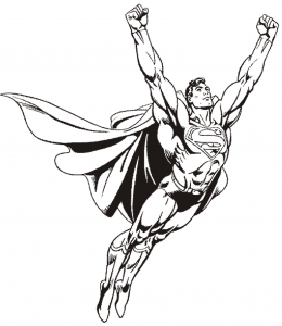 Coloring page superman to color for kids