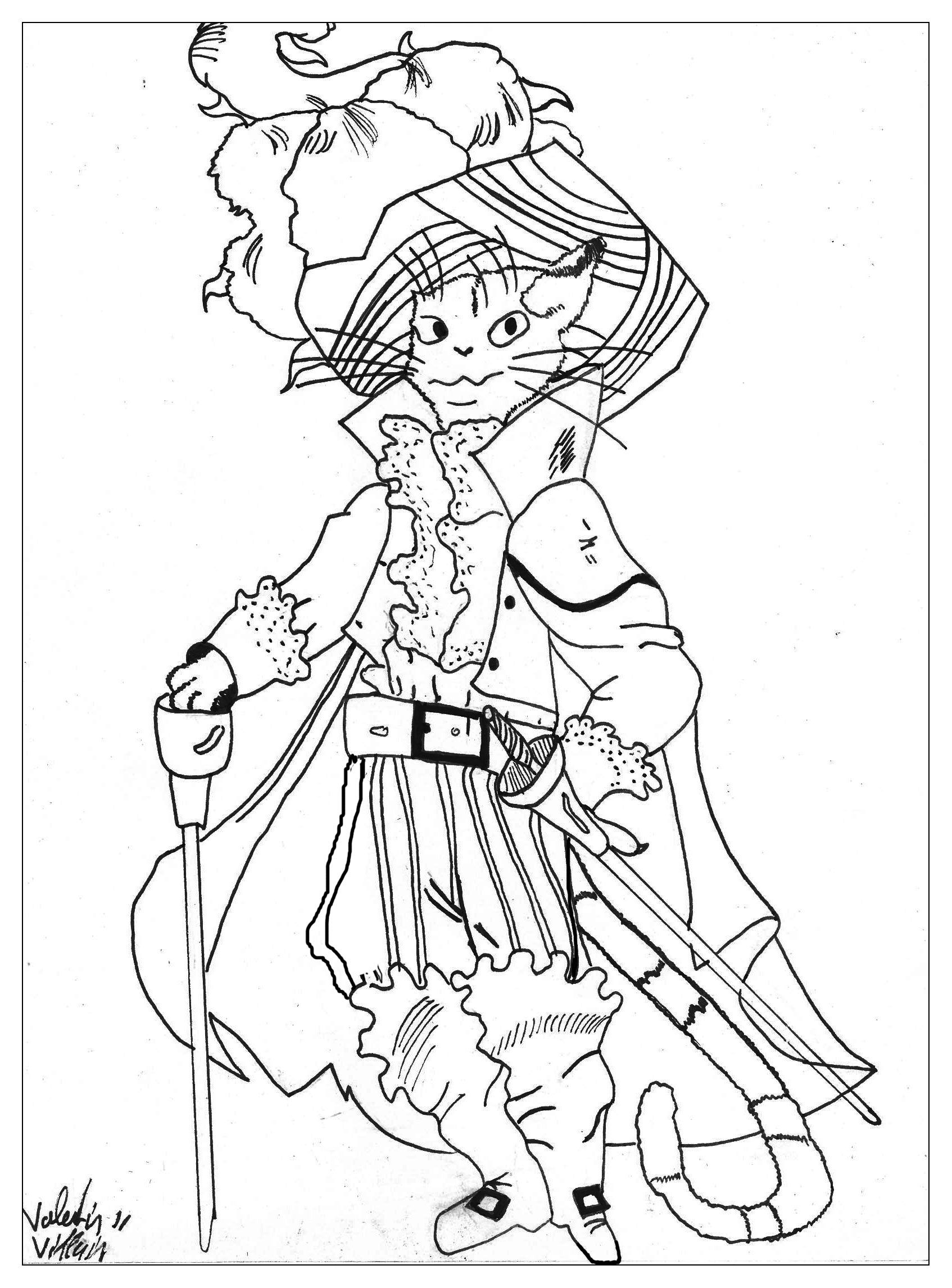 Tales coloring page to download for free