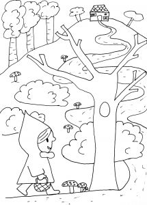 Coloring page tales to color for children