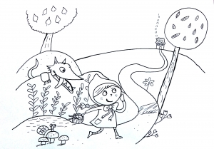 Coloring page tales for children