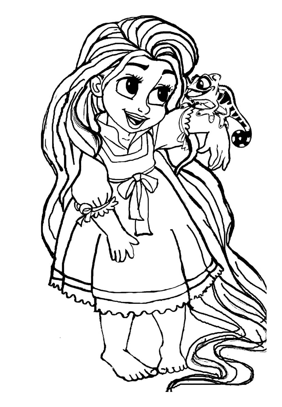 Tangled to print for free - Tangled Kids Coloring Pages