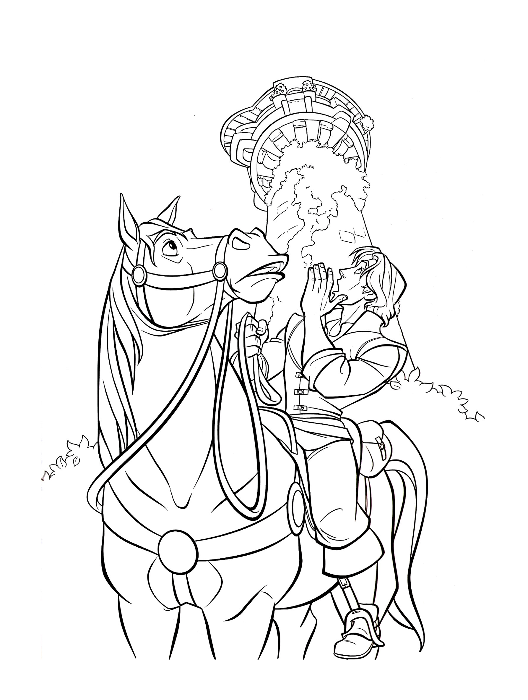 Tangled For Kids Tangled Kids Coloring Pages