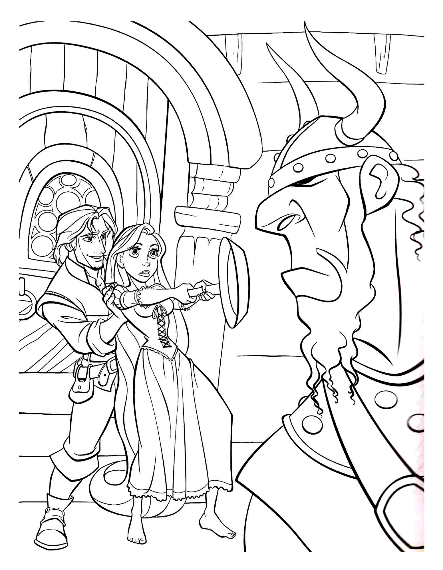 Tangled to print - Tangled Kids Coloring Pages