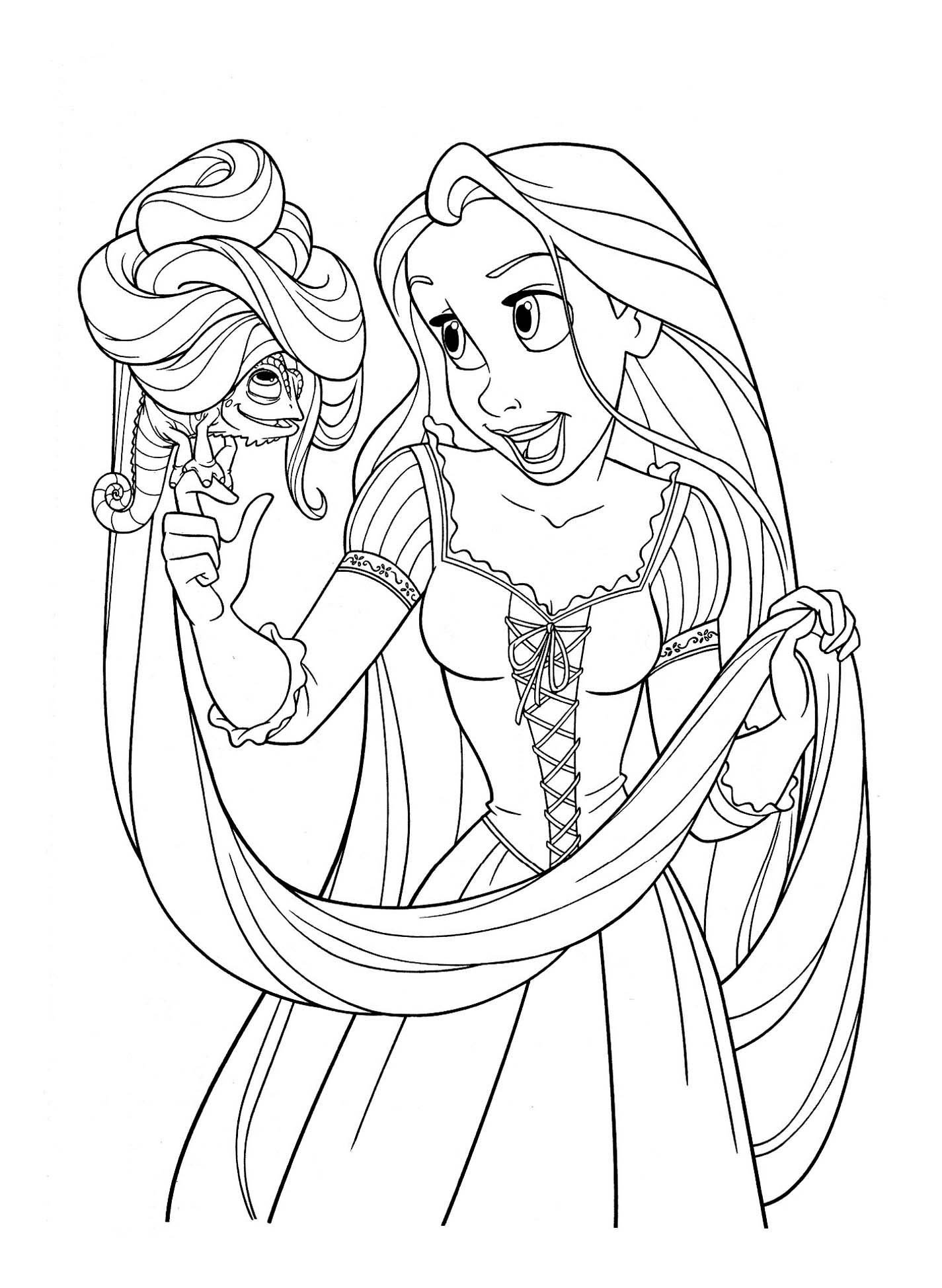 Tangled To Download For Free Tangled Kids Coloring Pages
