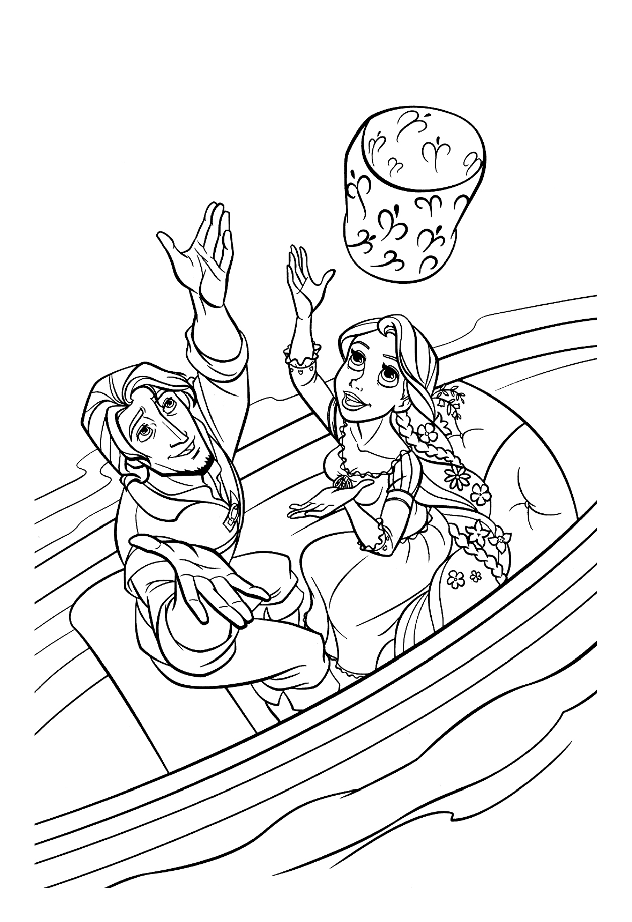 Tangled For Children Tangled Kids Coloring Pages