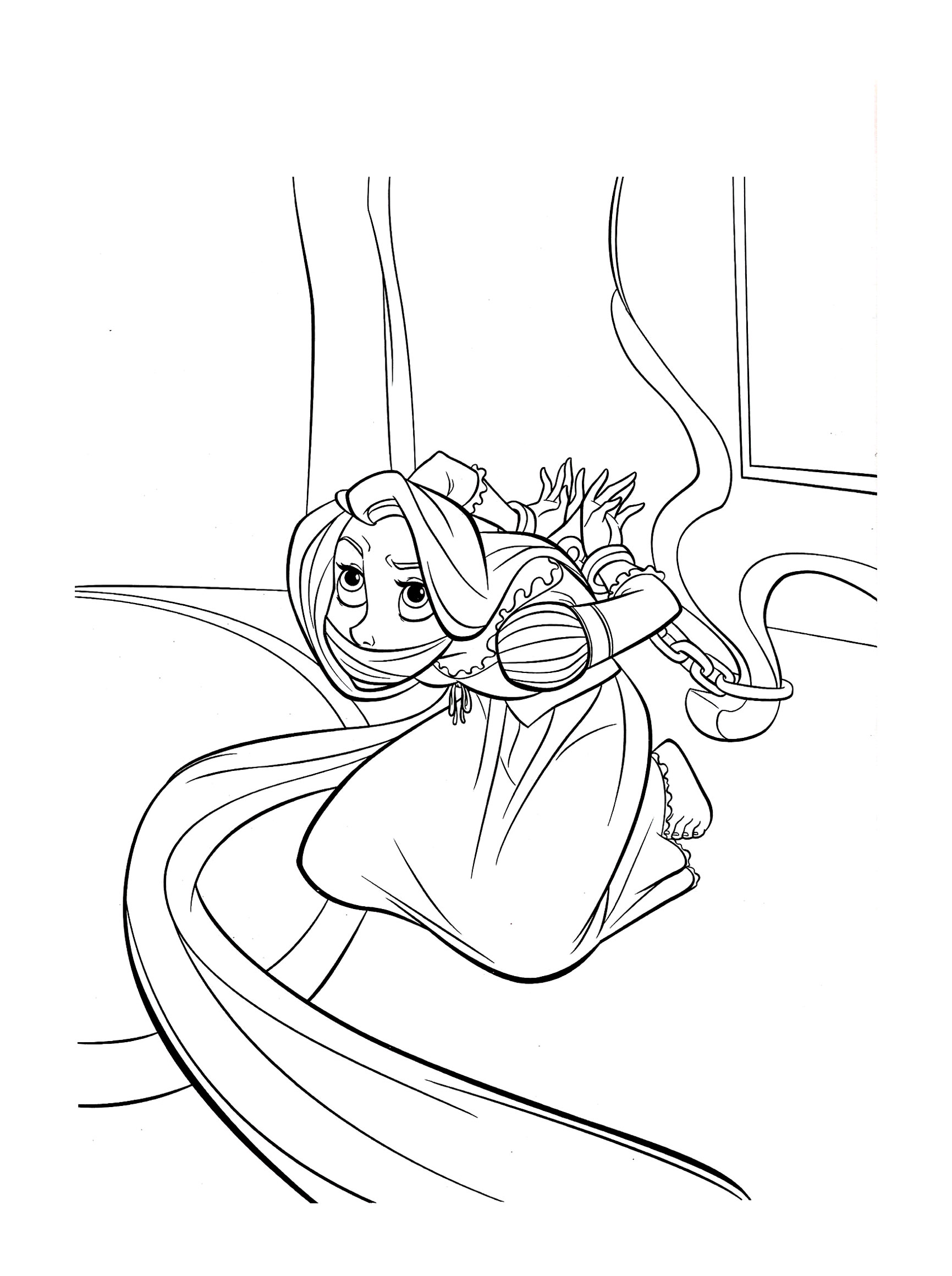 Tangled Free To Color For Children Tangled Kids Coloring Pages