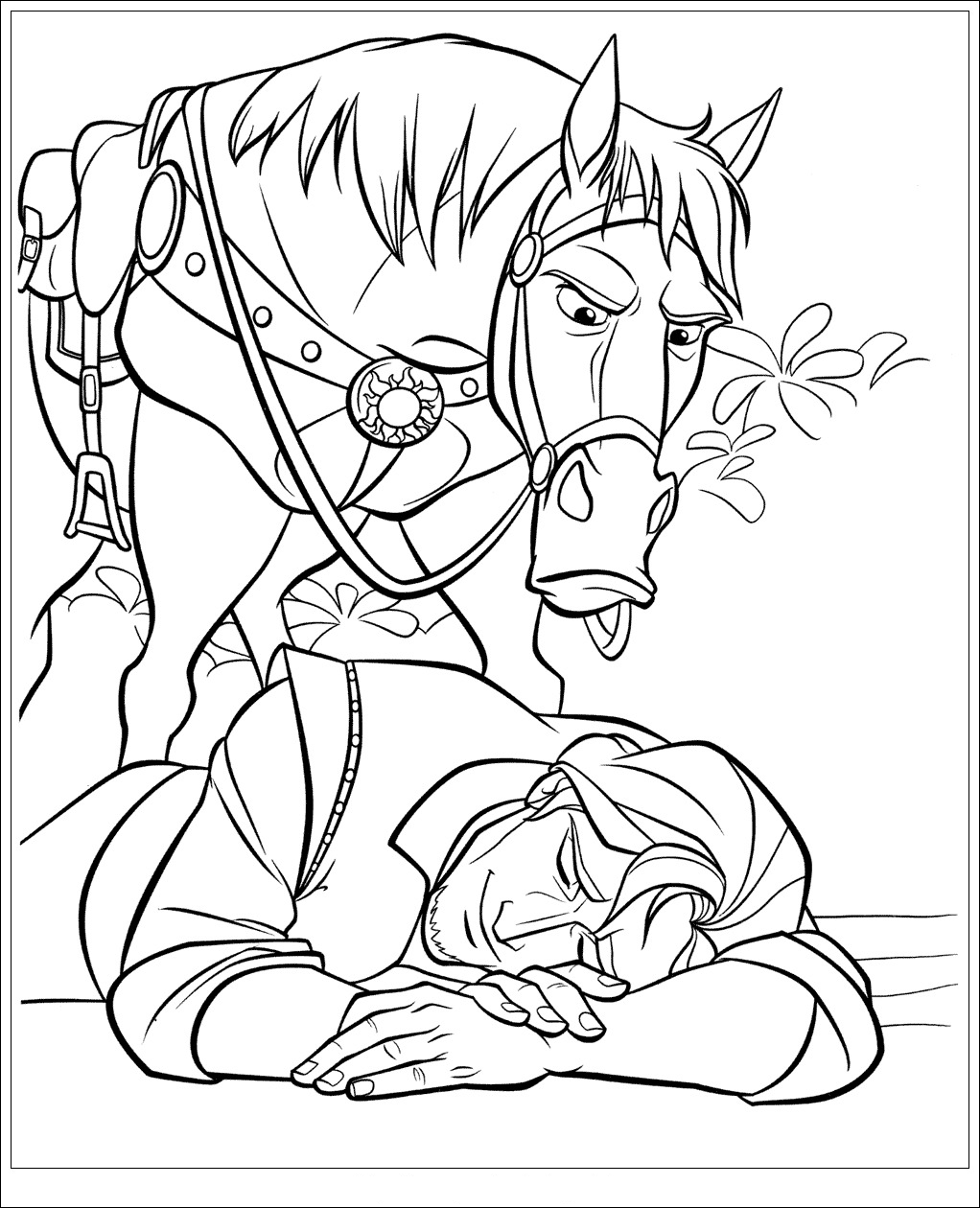 Tangled to color for kids - Tangled Kids Coloring Pages | 1260x1022