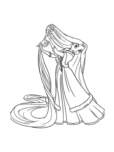 Coloring page tangled free to color for kids