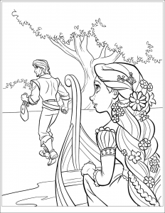 Coloring page tangled to color for children