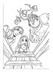 Coloring page tangled to download