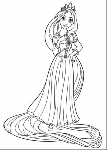 Coloring page tangled for children