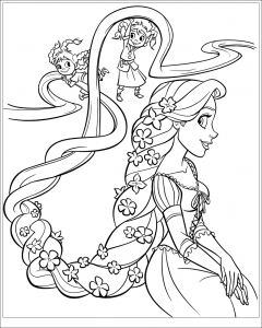 Coloring page tangled free to color for children