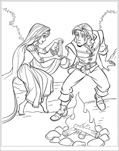 Coloring page tangled to print