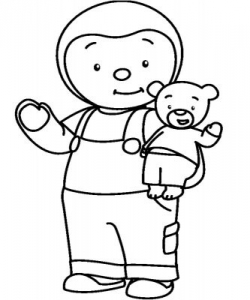 Coloring page tchoupi to print