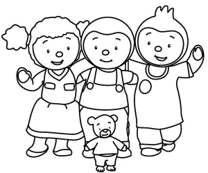 Coloring page tchoupi for children
