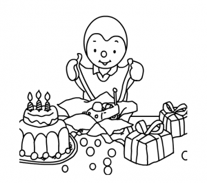Coloring page tchoupi free to color for kids