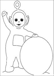 Simple Teletubbies coloring page to download for free