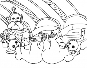 Coloring page teletubbies to color for children