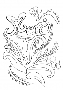 Coloring page thank you to color for kids