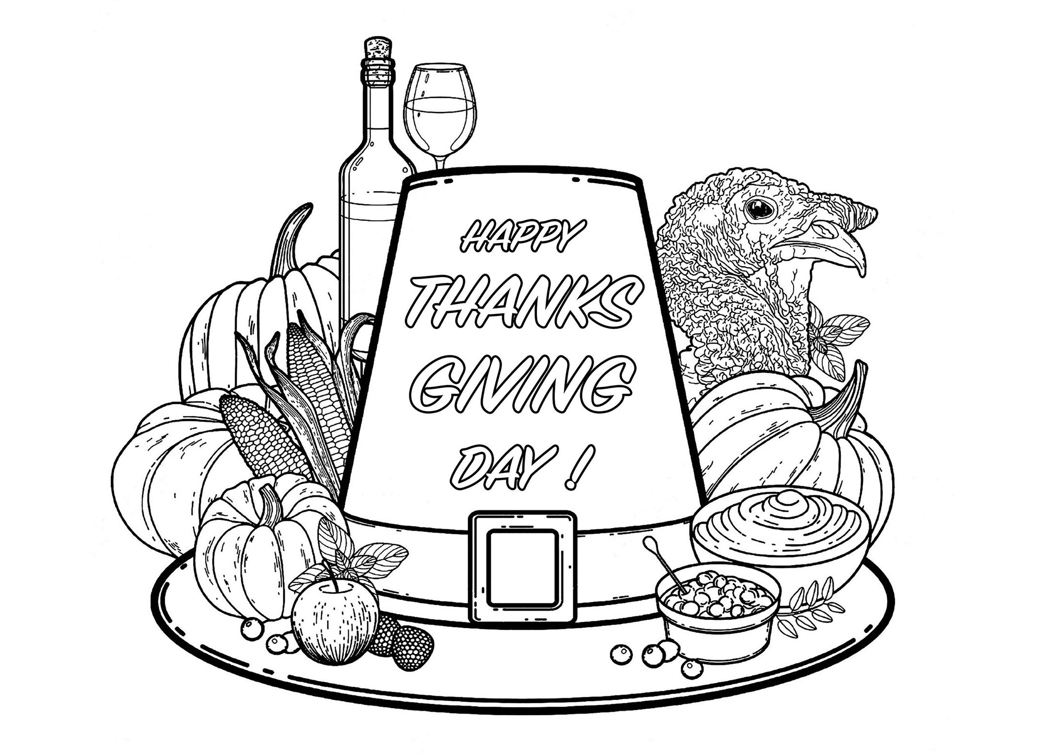 Turkey Coloring Book Pages - Coloring Home | 1556x2140