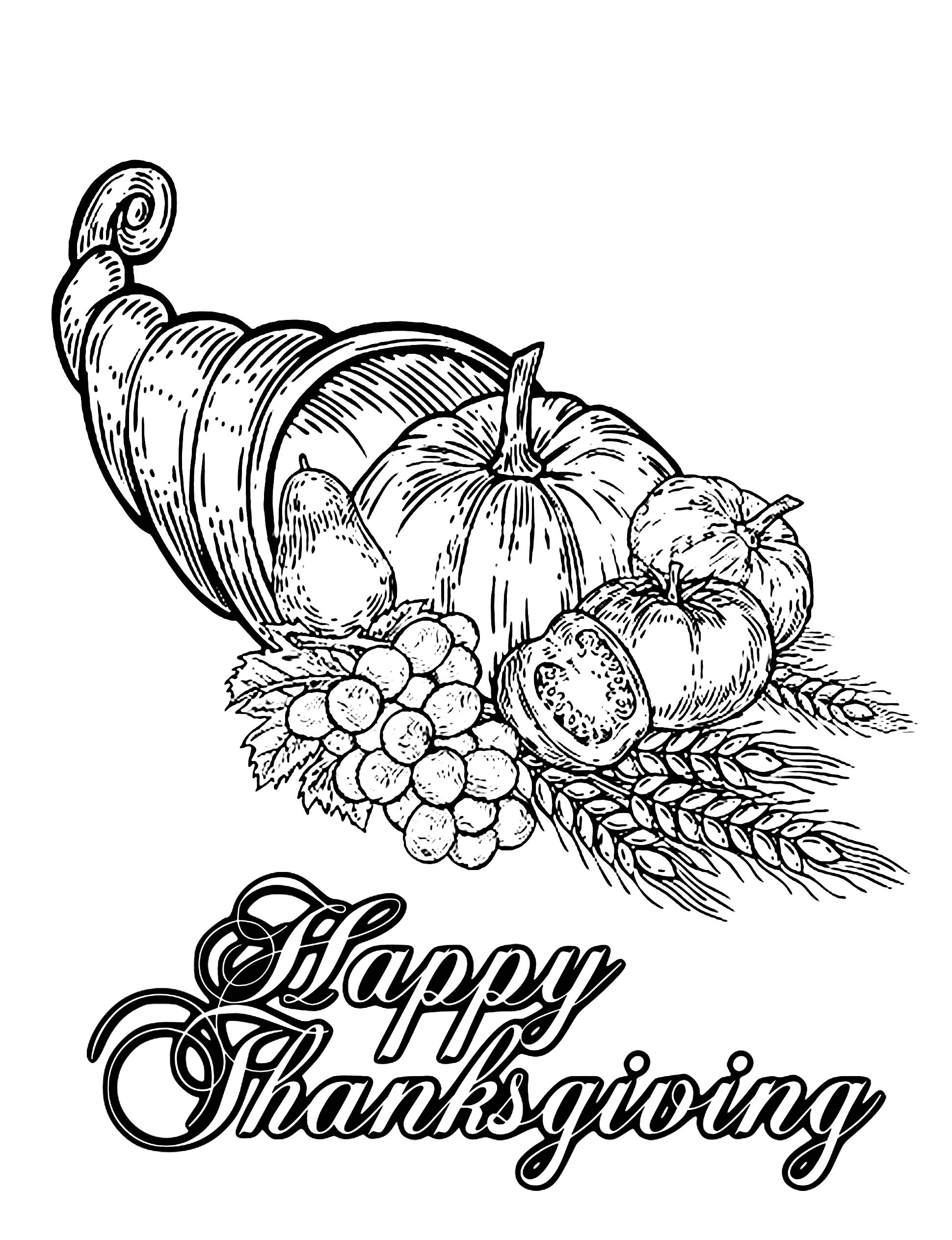 Thanksgiving to download - Thanksgiving Kids Coloring Pages