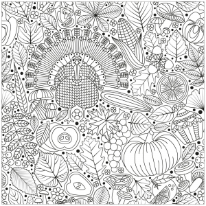 Coloring page thanksgiving free to color for kids