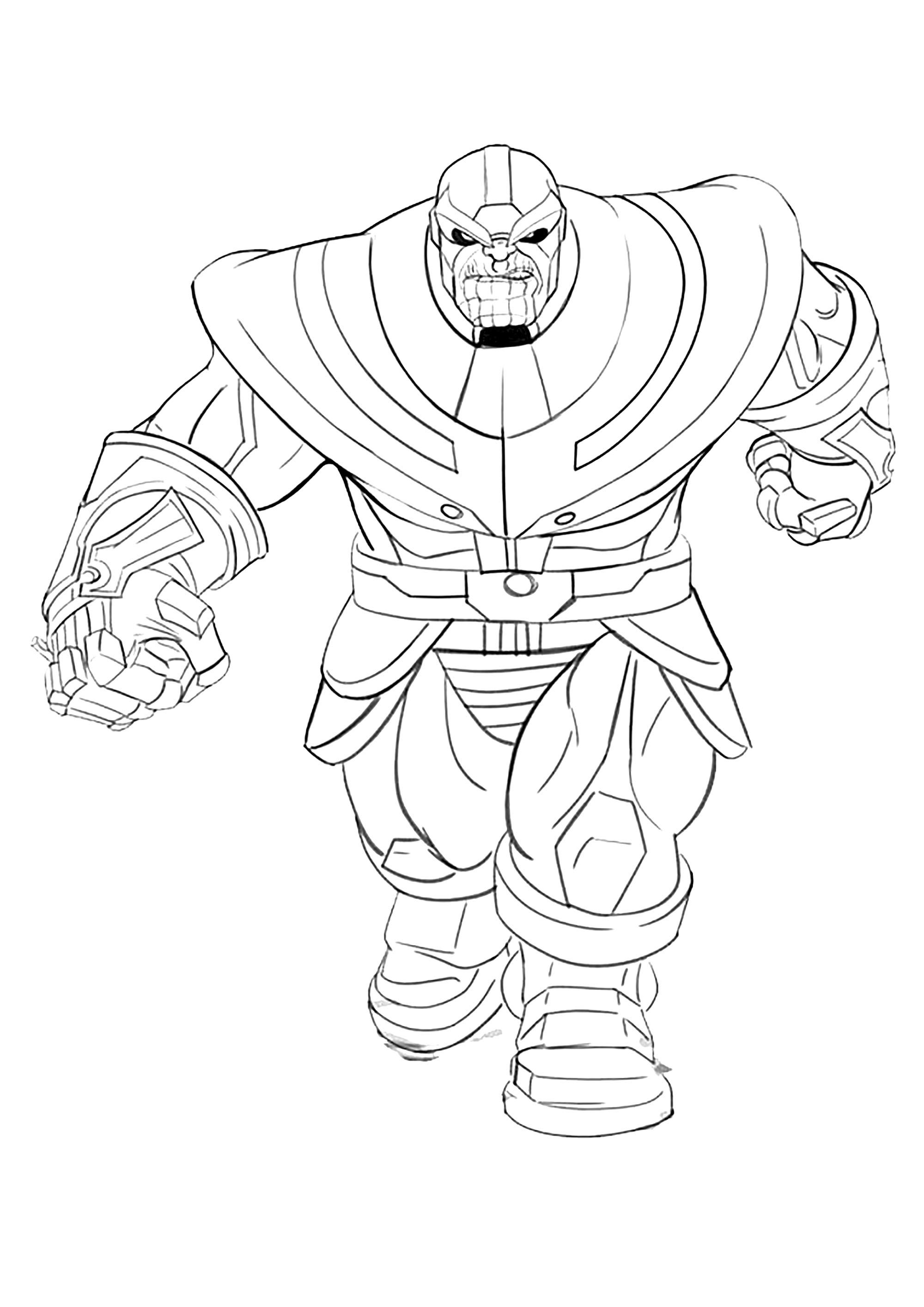 Thanos coloring page to print and color