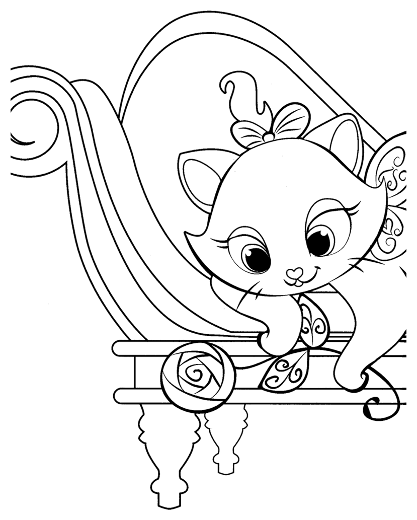 Simple The Aristocats coloring page for kids