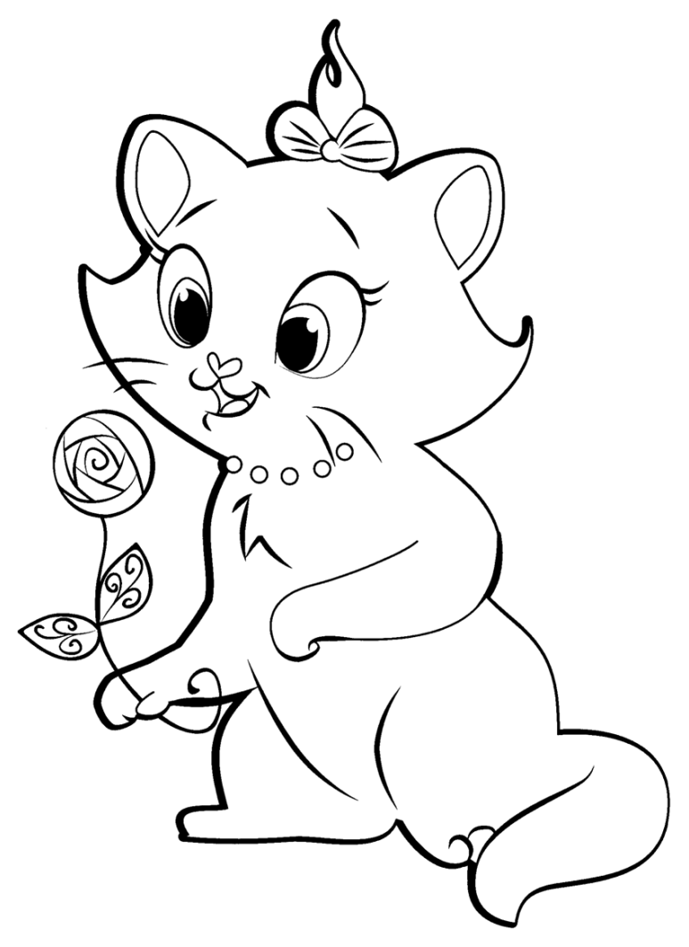 Beautiful The Aristocats coloring page to print and color