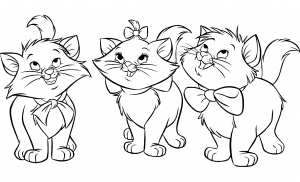Coloring page the aristocats to color for children