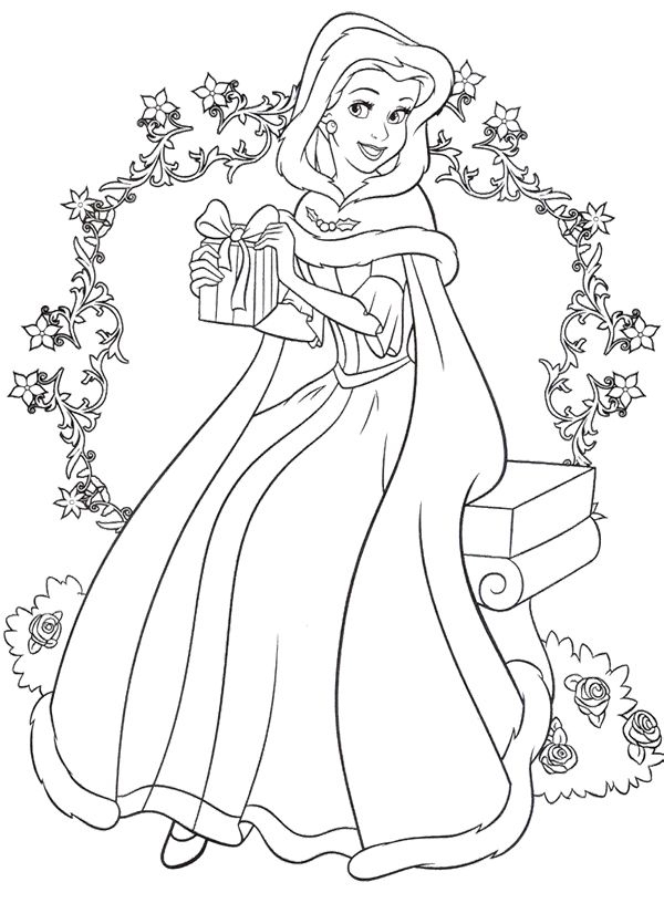 Printable The Beauty And The Beast coloring page to print and color