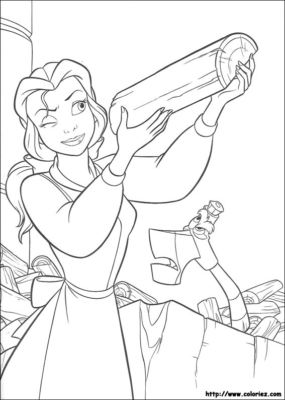 Simple The Beauty And The Beast coloring page for children