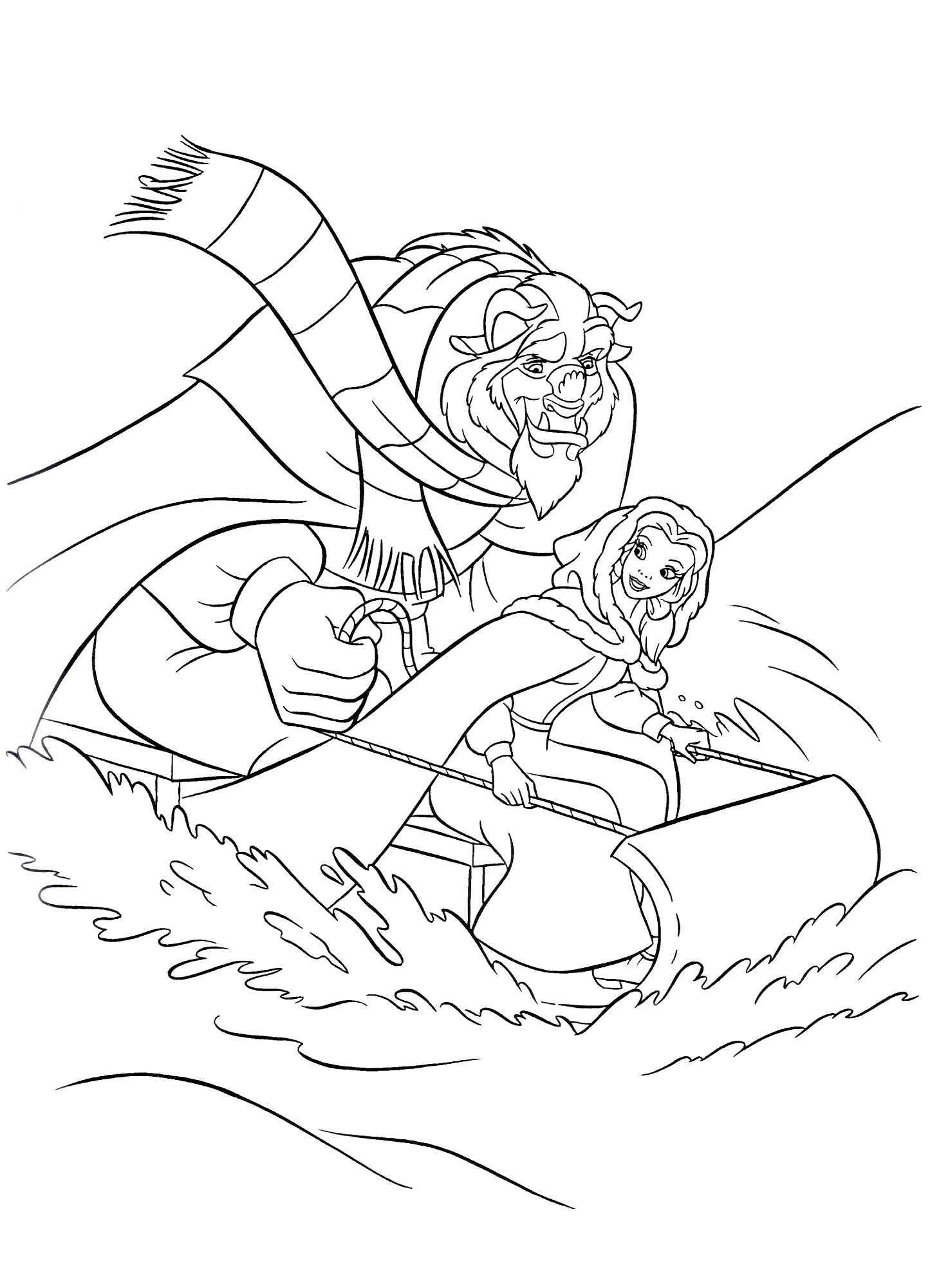 Funny The Beauty And The Beast coloring page