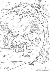 Coloring page the beauty and the beast free to color for kids