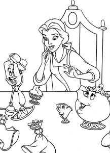Coloring page the beauty and the beast to download